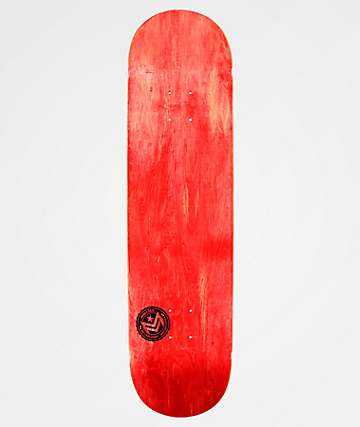 "Mini Logo Chevron Stamp Red 8.5"" Skateboard Deck"