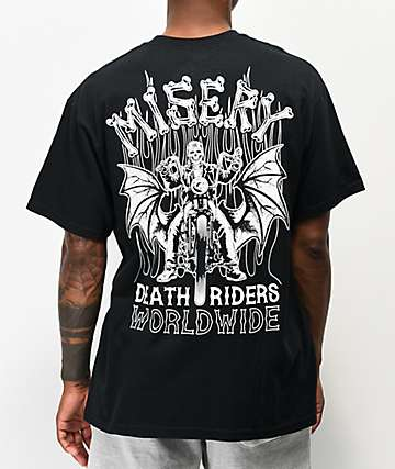 Misery Worldwide Death Riders Black T-Shirt
