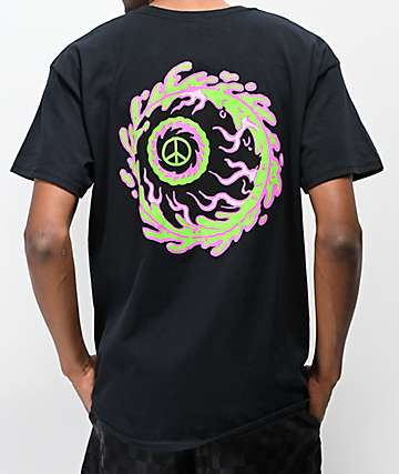 Mishka Peaceful Eye Black T-Shirt