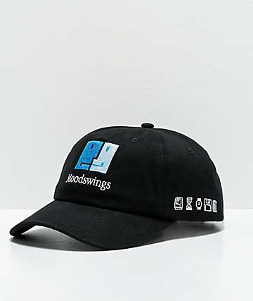 Moodswings Face Black Strapback Hat