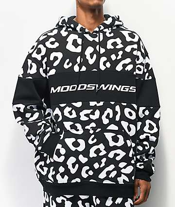 Moodswings Leopard Black & White Hoodie