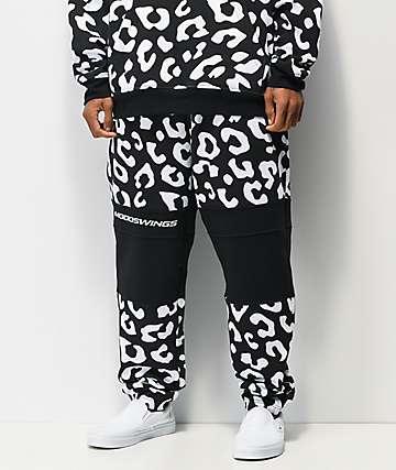 Moodswings Leopard Black & White Sweatpants