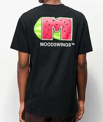 Moodswings Melon Logo Black T-Shirt