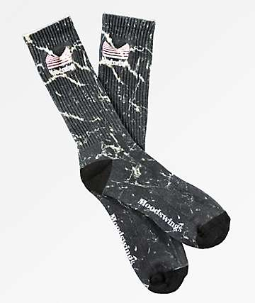 Moodswings Quantum Leap Black Crew Socks