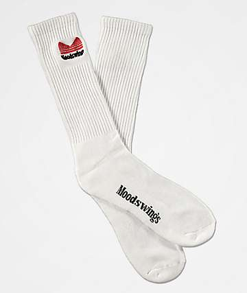 Moodswings Quantum Leap White Crew Socks