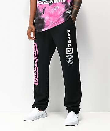 Moodswings Rated M Black Sweatpants