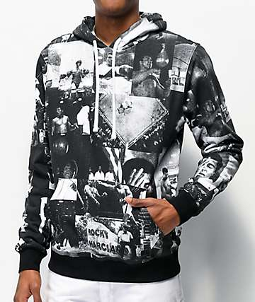 Muhammad Ali x Diamond Supply Co. Ali Montage Black & White Hoodie