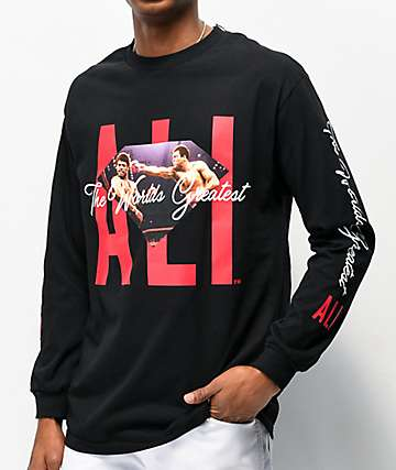 Muhammad Ali x Diamond Supply Co. Ali Sign Black Long Sleeve T-Shirt