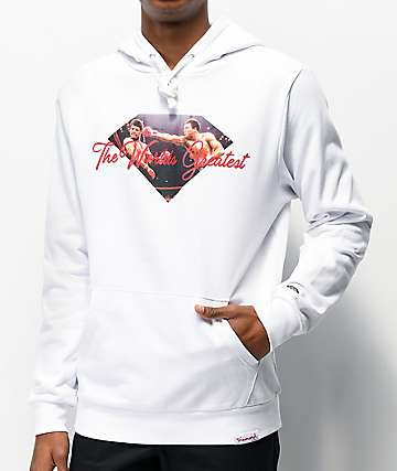 Muhammad Ali x Diamond Supply Co. Ali Sign White Hoodie