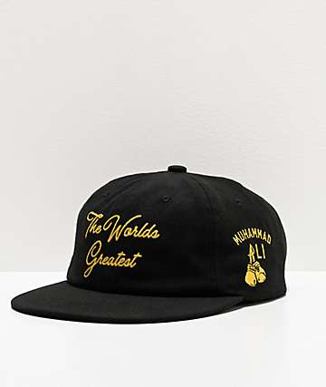 Muhammad Ali x Diamond Supply Co. The Worlds Greatest Black Strapback Hat