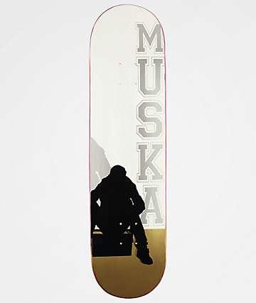 """Muska Boombox Silver & Gold 8.25"""" Skateboard Deck"""