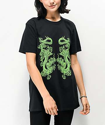 NEW girl ORDER Double Dragon Black T-Shirt