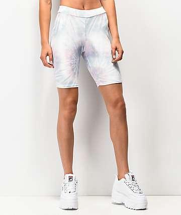 NEW girl ORDER shorts de terciopelo tie dye