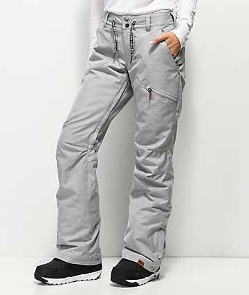 Nadia Heather Grey 10K Snowboard Pants