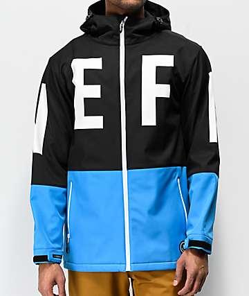 Neff Daily 10K chaqueta negra y azul báltico