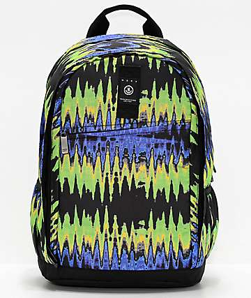 Neff Daily XL Ripple Purple & Green Tie Dye Backpack