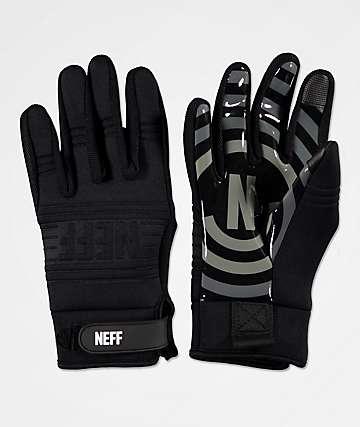 Neff Daily guantes de snowboard de pipa en negro y gris