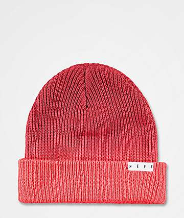 Neff Duo Red Washed Beanie