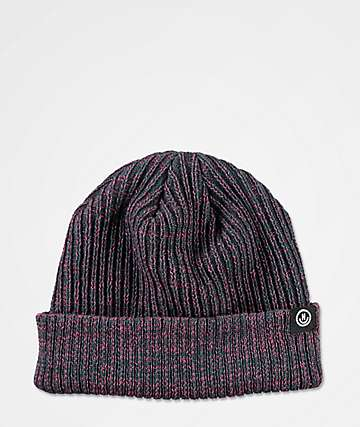 Neff Fisherman Heather & Raspberry Red Beanie