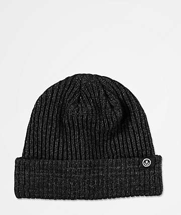 Neff Fisherman Heather Black Beanie