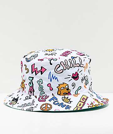 Neff Funk Skipper White Bucket Hat