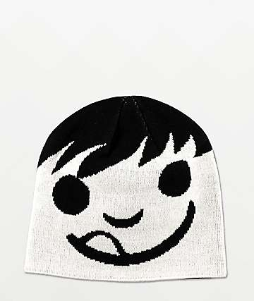 Neff Happy Black Beanie