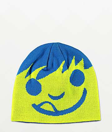 Neff Happy Lime & Blue Beanie
