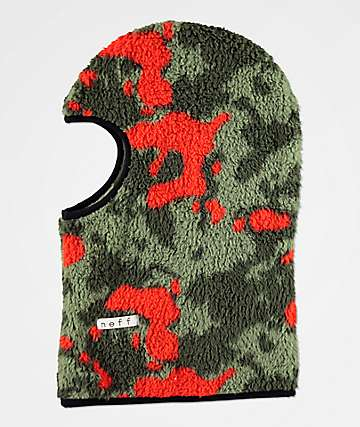 Neff High Pile Green Camo Balaclava