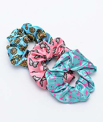 Neff Nature 3 Pack Scrunchies