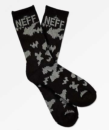 Neff Promo Black & Charcoal Crew Socks