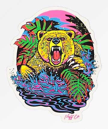 Neff Psychedelic Bear pegatina