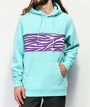 Neff Setup Blue & Purple Fleece Hoodie