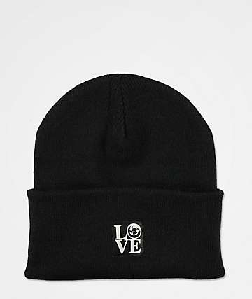 Neff Suckerface Label Black Beanie