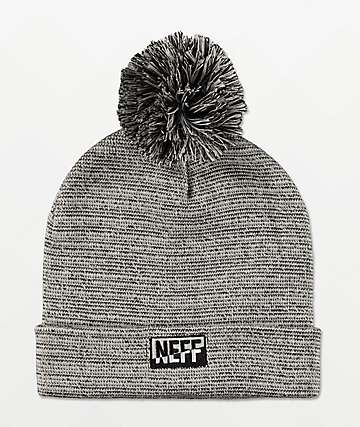 Neff Thermal Dye Black & Ivory Pom Beanie