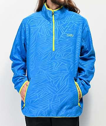 Neff Throwback Blue Tech Fleece Jacket