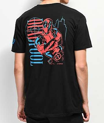 Neff x Marvel Dead Pool Big City Black T-Shirt