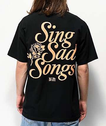 Never Made Tristesa Black T-Shirt