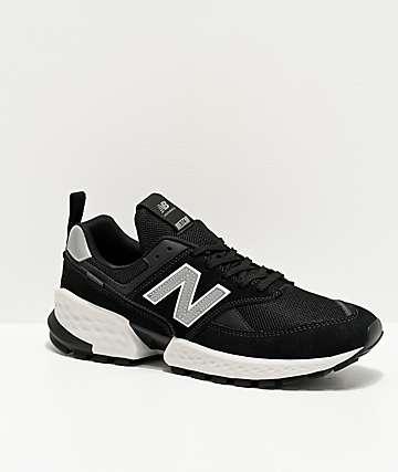 New Balance Lifestyle 574 Sport Black & Silver Metallic Shoes