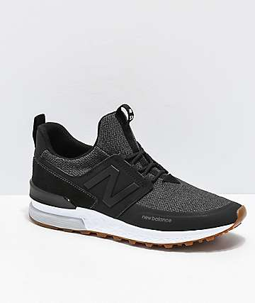 New Balance Lifestyle 574 Sport Decon Black & Magnet Grey Shoes