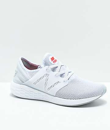 New Balance Lifestyle Fresh Foam Cruz White & Silver Shoes