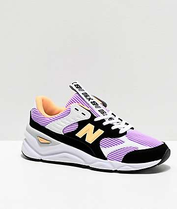 New Balance Lifestyle X90 Reconstructed Thunder Sky, Black & Orange Shoes