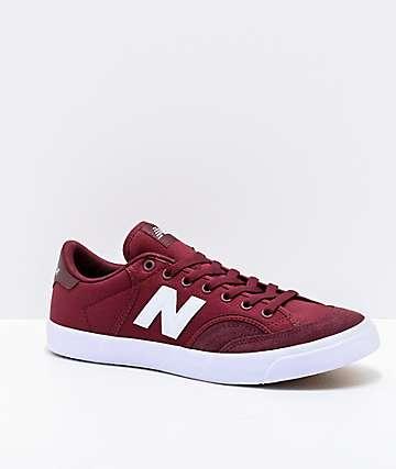 New Balance Numeric 212 Burgundy & White Skate Shoes