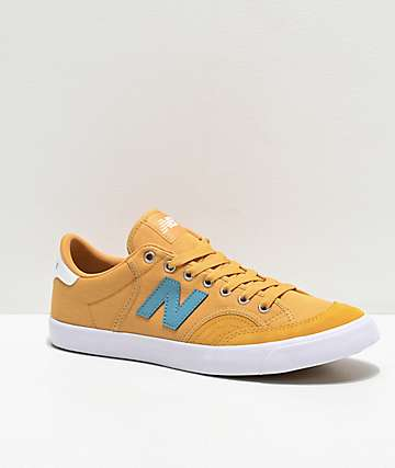 New Balance Numeric 212 Yellow & Blue Stone Skate Shoes