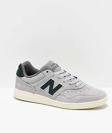 New Balance Numeric 288 Silver & Forrest Green Skate Shoes