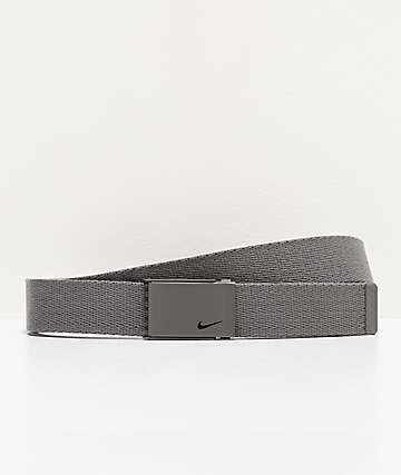 Nike Hinge Buckle Grey Web Belt