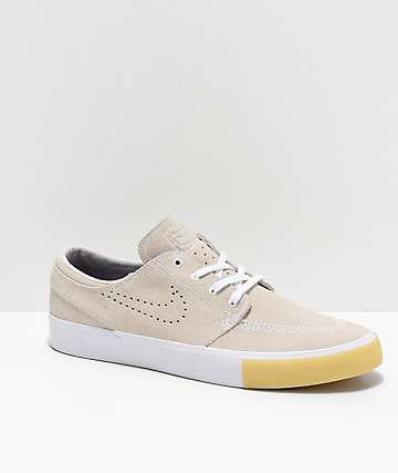Nike Janoski RM SE White & Vast Grey Suede Skate Shoes
