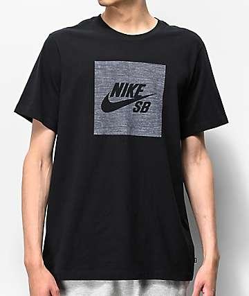Nike SB Dri-Fit Logo Chambray Black T-Shirt