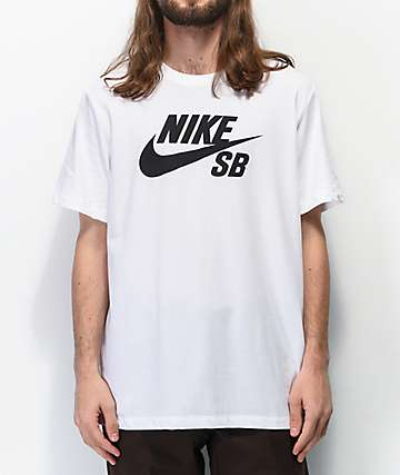 Nike SB Dri-Fit Logo White & Black T-Shirt