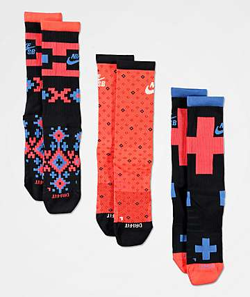Nike SB Everyday Max Nomad 3 Pack Crew Socks