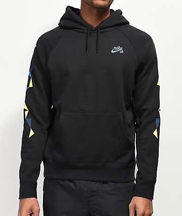 Nike SB Geometric Black Hoodie